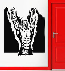 Wall Stickers Vinyl Decal Muscled Sport Bodybuilding Cool Decor for Gym Unique Gift (ig1064)