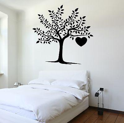 Wall Decal Tree Heart Love Romantic Vinyl Sticker Unique Gift (z3629)