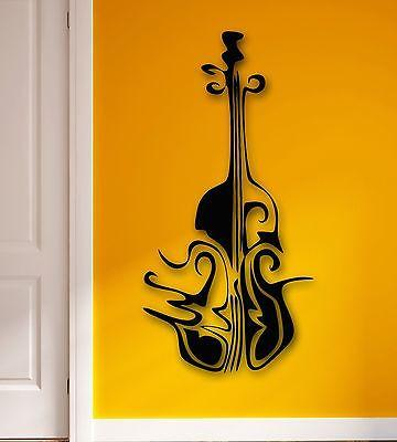 Wall Stickers Vinyl Decal Music Abstract Cello Musical Instrument (ig1804)
