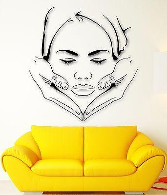 Wall Stickers Vinyl Decal Massage Spa Face Makeup Sexy Girl Beauty Unique Gift (ig2292)