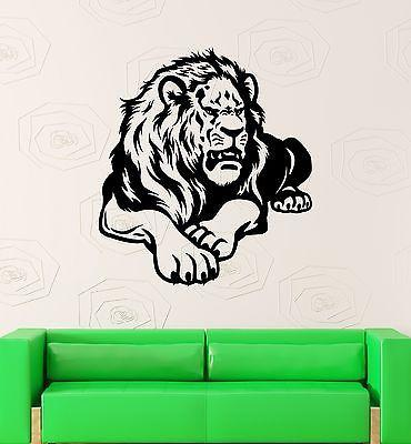 Wall Decal Animal Lion King Mane Predator Roar Mural Vinyl Stickers Unique Gift (ed056)