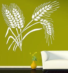 Ears Wheat Grain Decor Living Room Wall Sticker Vinyl Decal Unique Gift (n263)