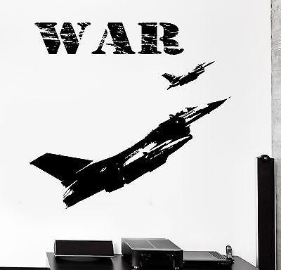Wall Vinyl Jet Military Aircraft Airplane War Guaranteed Quality Decal Unique Gift (z3456)