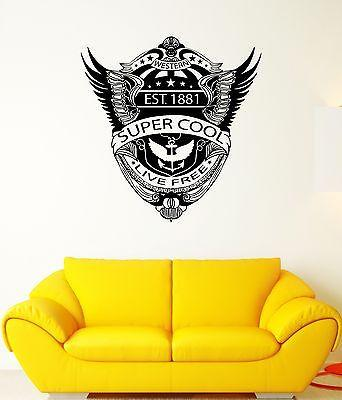 Wall decal western eagle wings anchor america flag mural vinyl stickers unique gift ed054
