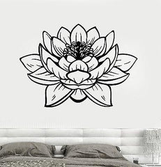 Lotus Flower Buddha Yoga Studio Meditation Decor Vinyl Decal z2906