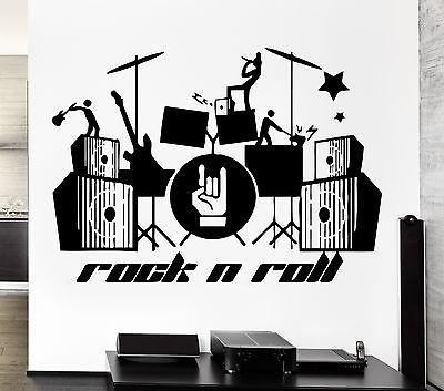 Wall Stickers Music Rock Guitar Drum Band Pop Art For Living Room (z2620)