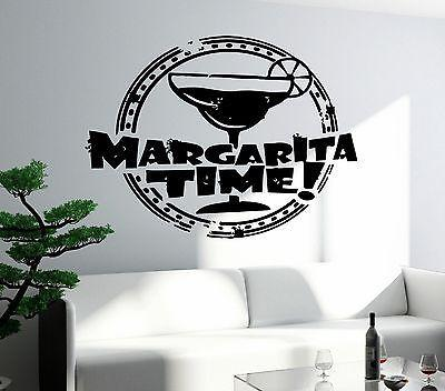 Wall Decal Bar Alcohol Drink Margarita Glass Decor For Kitchen Unique Gift (z2643)