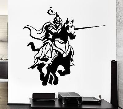 Wall Decal Knight Armor Medieval Knight Duel Tournament Vinyl Stickers Unique Gift (ed272)
