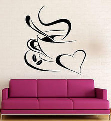 Vinyl Decal Coffee Break Romantic Coffee Shop Kitchen Cafe Wall Sticker Restaurant Decoration (ig2321)