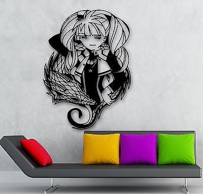 Wall Sticker Vinyl Decal Teen Boy with Bird Oriental Anime Manga Kids Room ig550