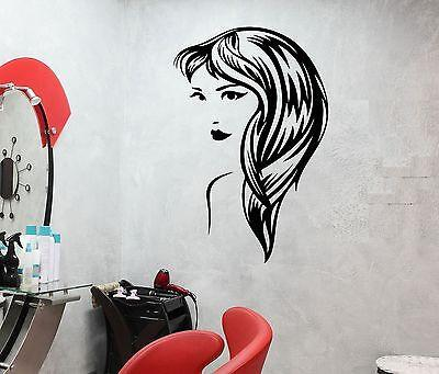 Wall Decal Sexy Girl Fashion Hairstyle Beauty Salon Hair Vinyl Stickers (ed244)