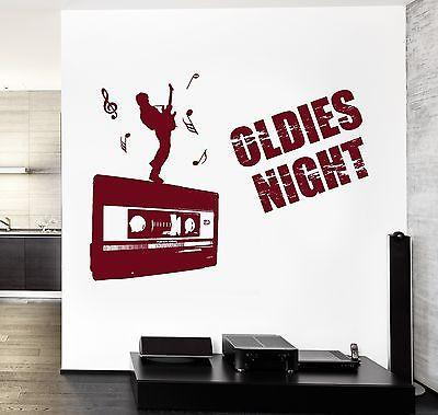 Wall Decal Music Rock Guitar Oldies NIght Notes Vinyl Sticker Unique Gift (z3586)