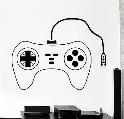 Wall Sticker Gaming Controller Joypad Gamer Gameplay Vinyl Decal Unique Gift (z3085)