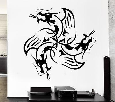 Wall Decal Dragon Myth Medieval Movie Fantasy Monster Cool Decor Interior Unique Gift z2701