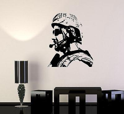 Wall Vinyl US Soldier Marine Seal Military Guaranteed Quality Decal Unique Gift (z3429)