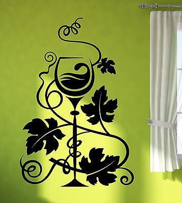 Wall Sticker Vinyl Decal Wine Grapes Winemaking Decor Kitchen Unique Gift (ig1959)