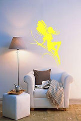Fairy Wings Fairytales Pixie Kids Cartoon Magic Wall Sticker Vinyl Decal (m008)