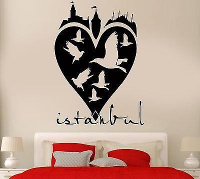 Wall Sticker Istanbul Turkey East Asia Birds Cool Art Bedroom (z2581)