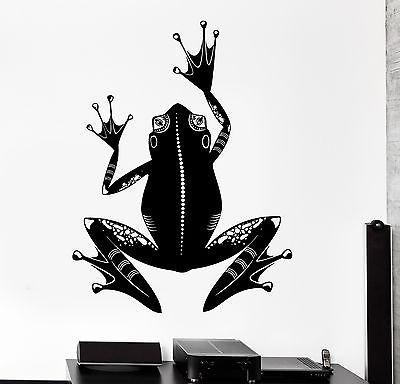 Wall Vinyl Frog Symbol Animal Ornament Mural Vinyl Decal Unique Gift (z3333)