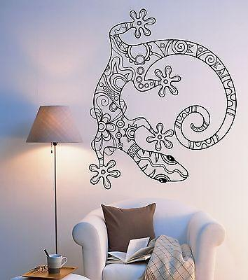 Wall Vinyl Lizard Gecko Animal Ornament Mural Vinyl Decal Unique Gift (z3337)