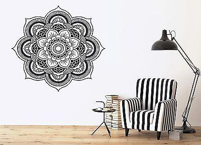 Wall Vinyl Sticker Mandala Enzo Circle Ornamental Floral Delicate Decor (n336)