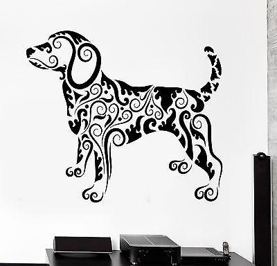 Wall Decal Animal Dog Pets Ornament Tribal Mural Vinyl Decal Unique Gift (z3305)