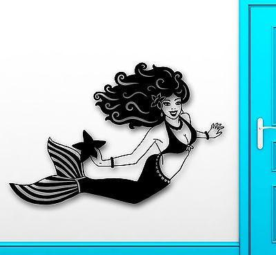 Wall Sticker Vinyl Decal Beautiful Mermaid for Kids Baby Room Bathroom (ig2117)