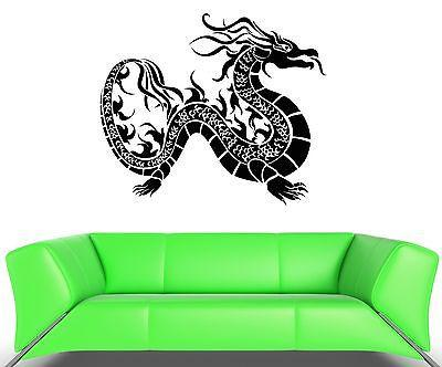 Wall Decal Dragon Fire Snake Scale Asia Mural Vinyl Stickers Unique Gift (ed006)