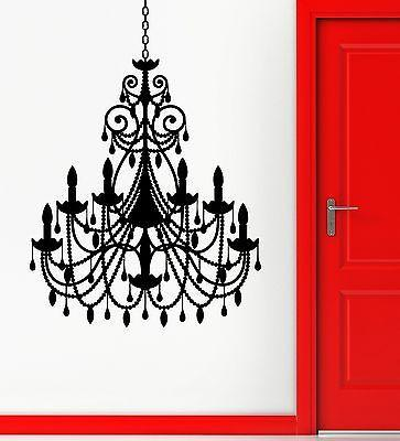 Wall Stickers Vinyl Decal Chandelier Light Great Living Room Vintage Unique Gift (ig2307)