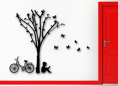 Wall Sticker Vinyl Decal Boy Tree Home Great Room Decor Unique Gift (ig2067)