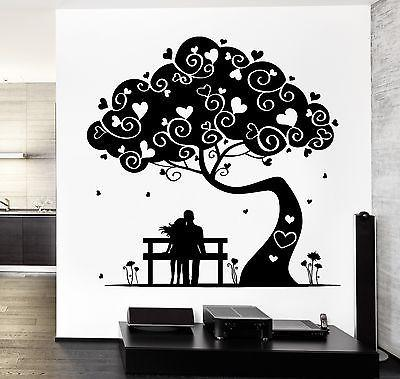 Wall Decal Magic Tree Love Romantic Hearts Vinyl Sticker Unique Gift (z3647)