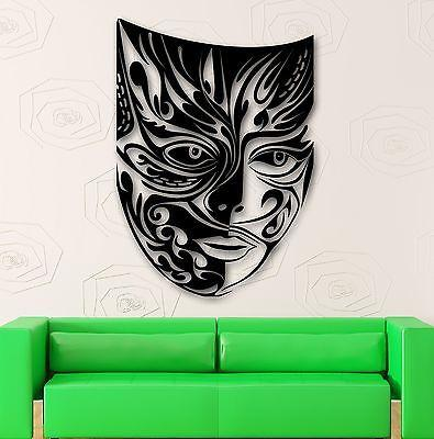 Wall Stickers Vinyl Decal Comedy Tragedy Mask Theater Emotions (ig1767)
