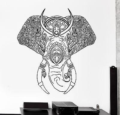 Wall Vinyl Elephant Tribal Animals Ornament Mural Vinyl Decal Unique Gift (z3352)