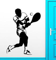 Sport Wall Stickers Sports Tennis Player Fan Vinyl Decal Unique Gift (ig2356)