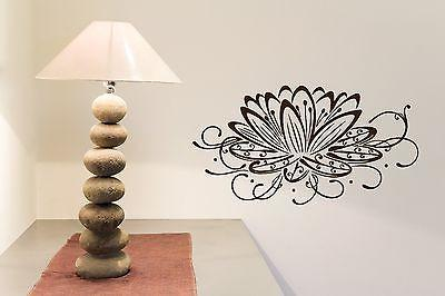 Vinyl Sticker Charming Flower Waterlily Abstract Design for Living Room Unique Gift (n313)