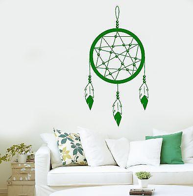 Vinyl Art Dreamcatcher Dream Catcher Ornament Feather For Bedroom Unique Gift (z2809)