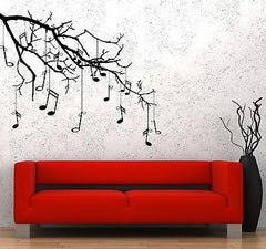 Wall Vinyl Music Tree Branch Notes Cool Guaranteed Quality Decal (z3542)