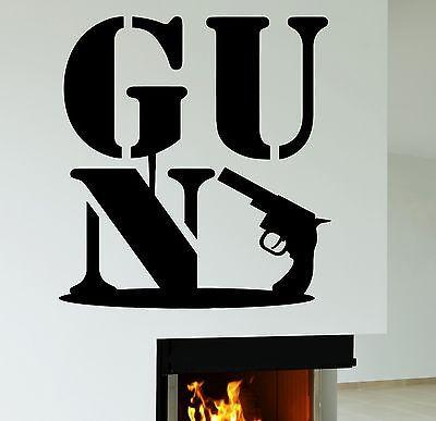 Wall Decal Gun Mafia Army Military Weapon Vinyl Stickers Art Mural Unique Gift (ig2542)
