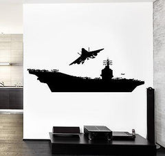 Wall Vinyl Aircraft Carrier Flying Jet Guaranteed Quality Decal (z3468)