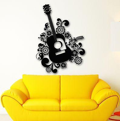Wall Stickers Vinyl Decal Beautiful Guitar Music Instrument (ig1764)