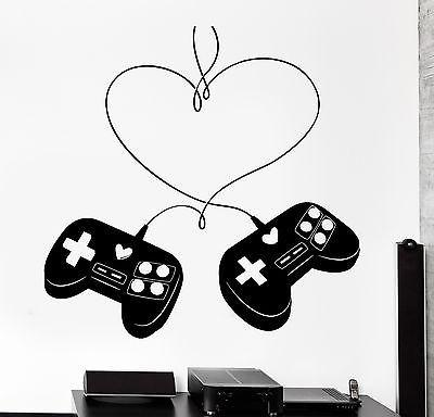 Wall Sticker Gaming Love Controller Joystick Gamer Vinyl Decal Unique Gift (z3091)