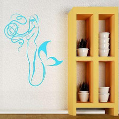 Wall Sticker Vinyl Decal Mermaid Marine Sea Decor Bathroom (ig2120)