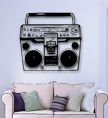 Wall Sticker Vinyl Decal Tape Recorder Music DJ Club Party Retro Vintage (ig871)