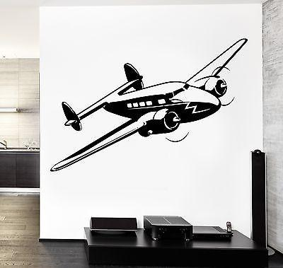 Wall Vinyl Retro Airplane Aircraft Guaranteed Quality Decal Unique Gift (z3479)