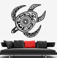 Wall Decal Turtle Tortoise Animal Tribal Ornament Mural Vinyl Decal (z3172)