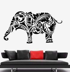 Wall Vinyl Elephant Africa Animal Ornament Mural Vinyl Decal Unique Gift (z3331)