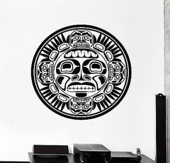 Wall Decal Mask Indian Ornament Tribal Mural Vinyl Decal Unique Gift (z3178)