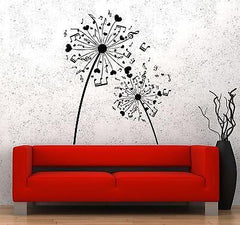 Wall Vinyl Music Notes Hearts Flower Floral Guaranteed Quality Decal (z3522)