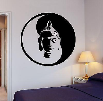 Wall Decal Buddha Yin Yang Yoga Meditation Relaxation OM Zen Unique Gift (z2669)