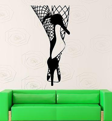 Wall Sticker Vinyl Decal Hot Sexy Girl Woman Fencenet Hosiery Cool Room Unique Gift (ig1987)